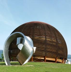 Sculpture devant le CERN